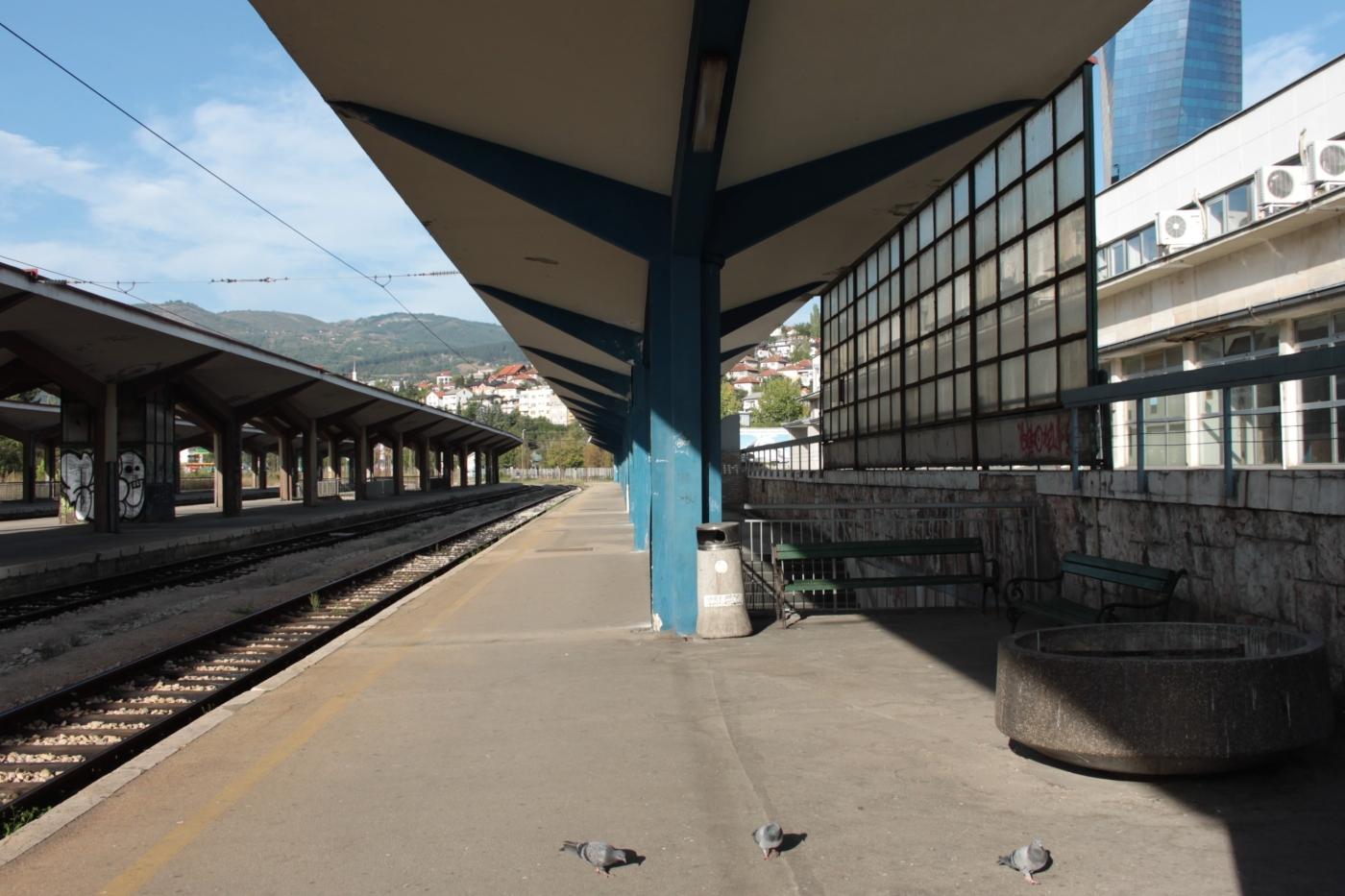Ein Bahnhof ohne Züge. (c) Christoph Baumgarten