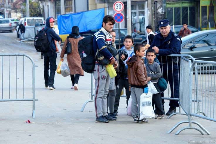 Refugees in Preševo, Serbia. Photo: (c) Jim Marshall