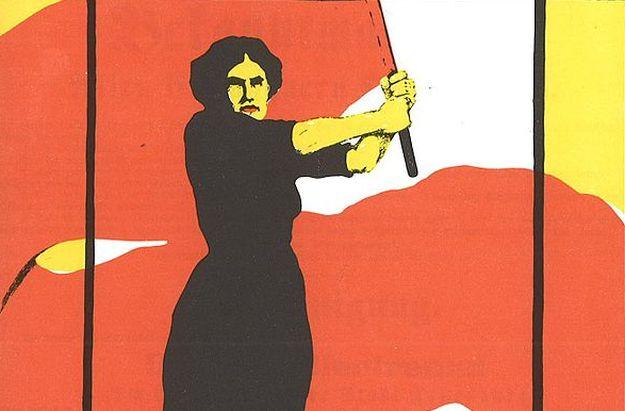 Historisches Plakat zum Internationalen Frauentag. Urheberschaft nicht nachvollziehbar.