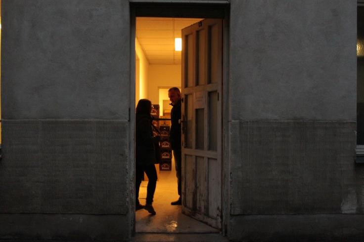 Der Eingang für EU-Bürger.