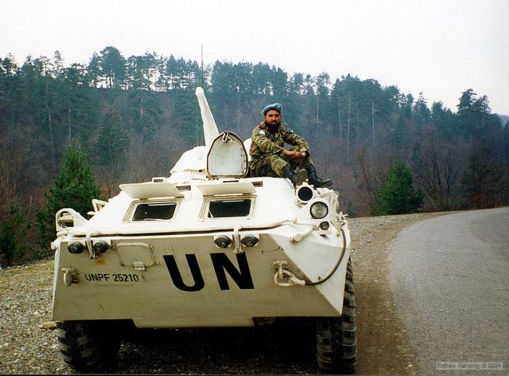 Ein pakistanischer UN-Soldat in Bosnien. Bilder wie diese begleiteten uns jahrelang. Foto: (c) Torbein Rønning, CC-License (CC BY-NC-ND 2.0