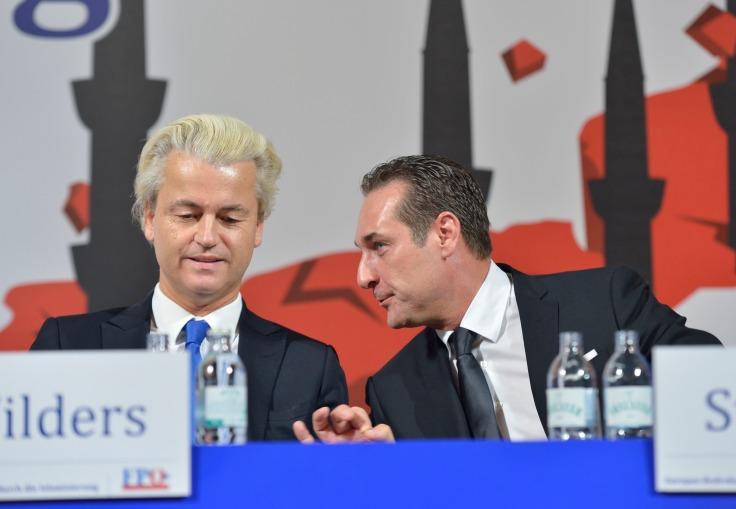 Geert Wilders und Heinz Christian Strache. Foto: (c) Daniel Weber