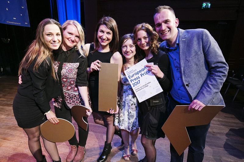Das Team von CINS bei der EPP-Preisverleihung. Foto: Jan Boeve/EPP